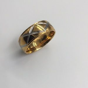 8MM 18K GOLD FILLED Stainless steel size 11